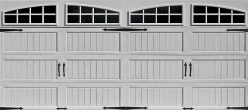 ideal 16 ft x 7 ft arch i lite long panel carriage house mr4lv wht insul garage door - 16 Ft Garage Door