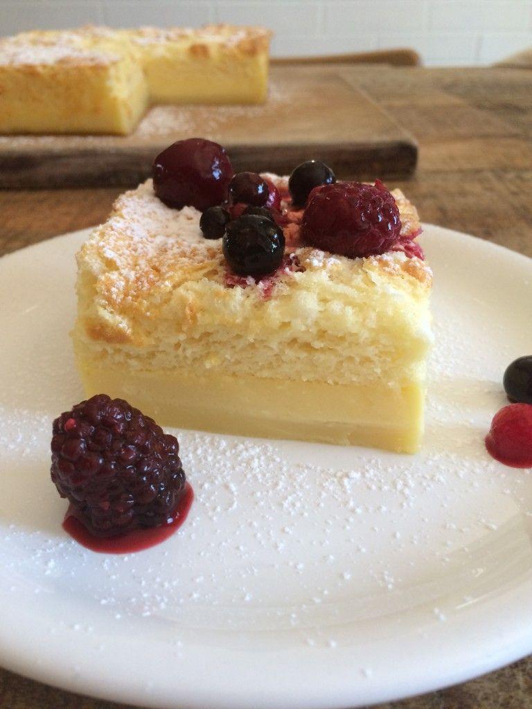 Gâteau magique au chocolat blanc -   14 desserts Light chocolat ideas