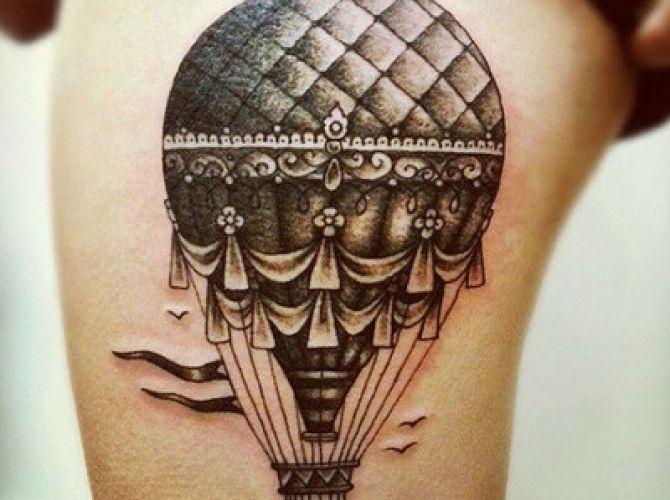 Balão Golfier Tattoo
