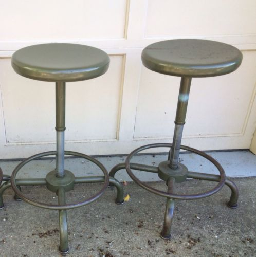 Pleasant Pair Of Vintage Chemistry Stools Bar Stools Lab Stools Beatyapartments Chair Design Images Beatyapartmentscom