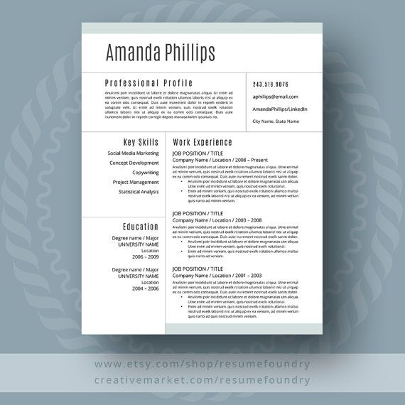 A Well Designed Resume Template Gives You The Clear Advantage
