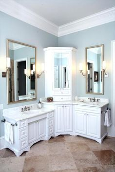 Image Result For Corner Double Sink Vanity Bathroom Sink Vanity Corner Bathroom Vanity Bathroom Remodel Master