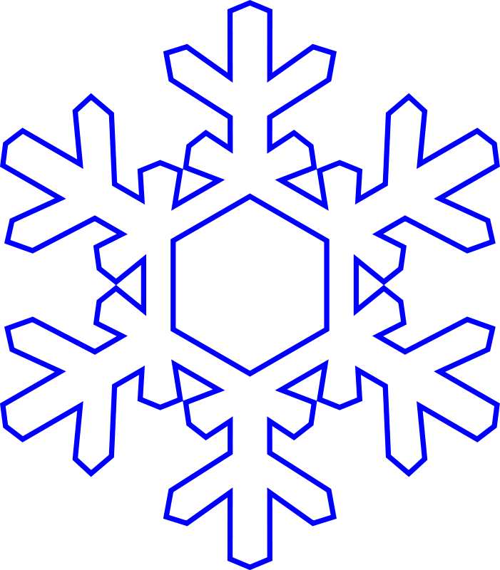 free snowflake clipart ablony pinterest clip art and ornament rh pinterest com snowflake clipart free black white snowflake clipart free download