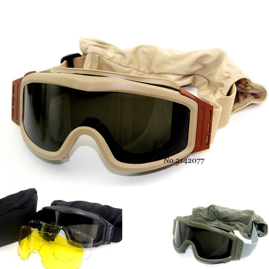 a53deca1a8ec03 Army Tactical Goggles Sunglasses for Men Airsoft Paintball Goggles new  stock  demeysis