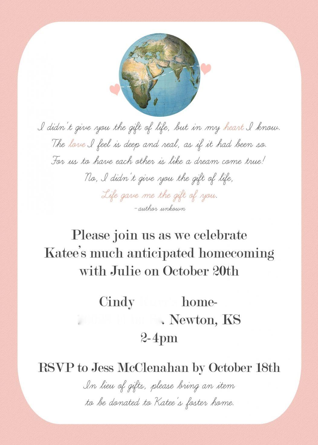 julie invite   Hannah\'s shower   Pinterest   Adoption shower ...