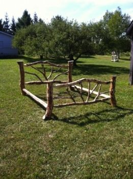 California King Log Bed Frame By Ira Schram Constructed of jack