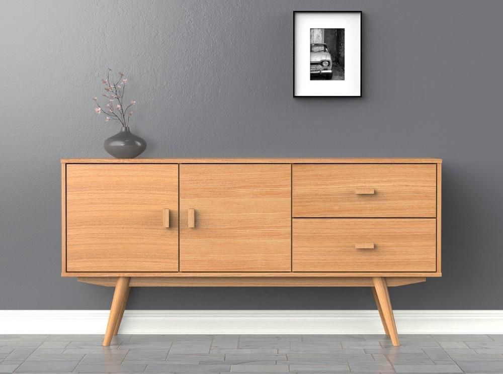 Fancy Scandi Sideboard Large Buffet Ash Scandinavian Style Furniture