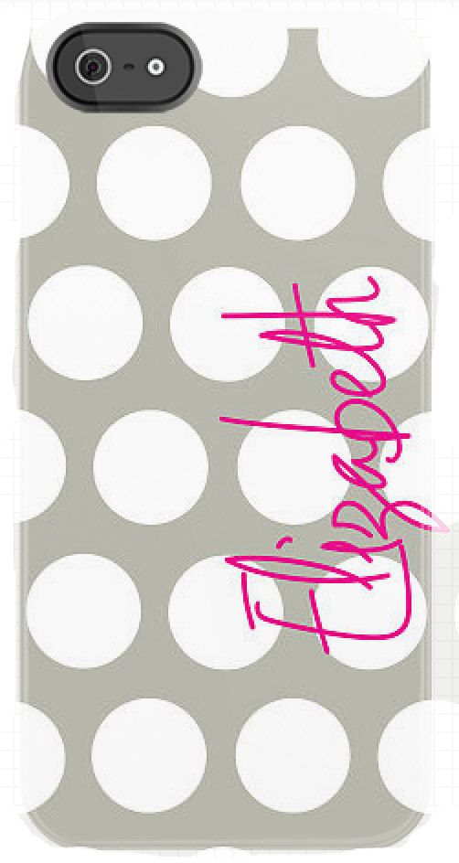 Personalized Dot with Name iphone case by daninotes on Etsy, $55.00