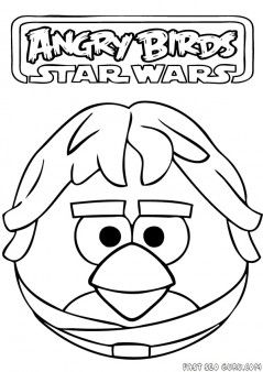 Printable Angry Birds Star Wars Han Solo Coloring Page Printable