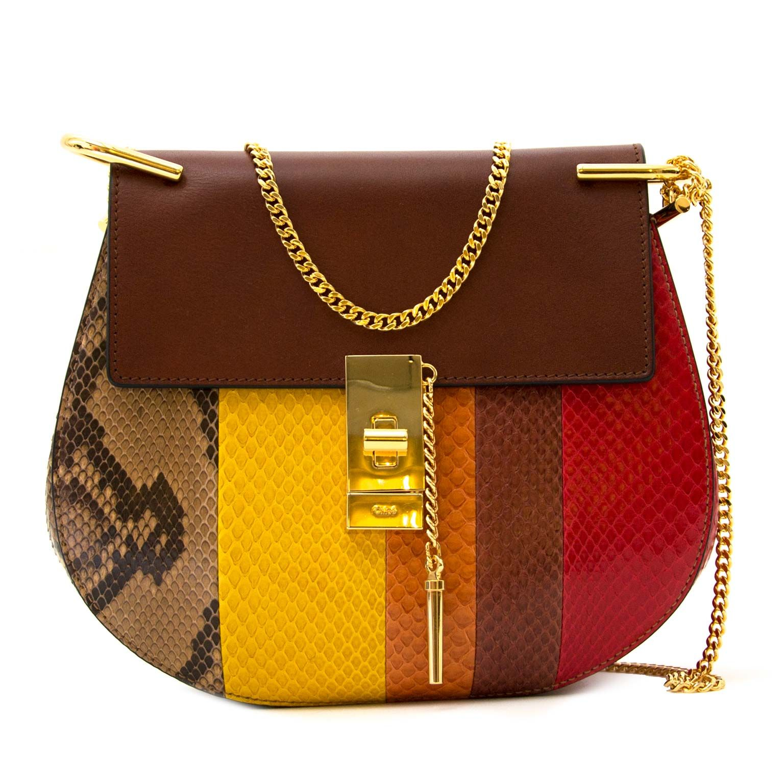 209a433dd22d Chloé Drew Multicolor Python Crossbody Bag
