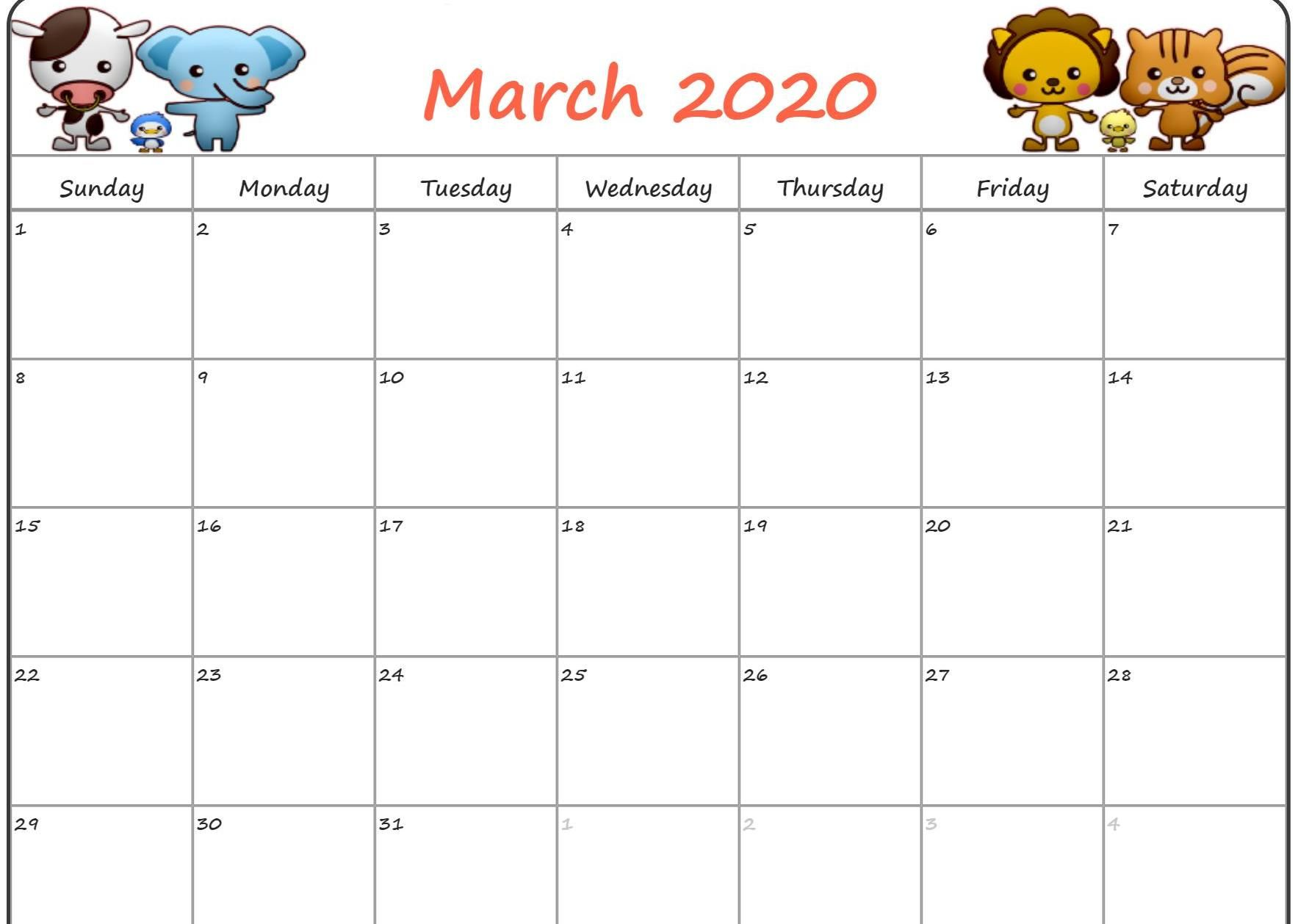 Cute March 2020 Calendar Floral Wallpaper Desk Images Free