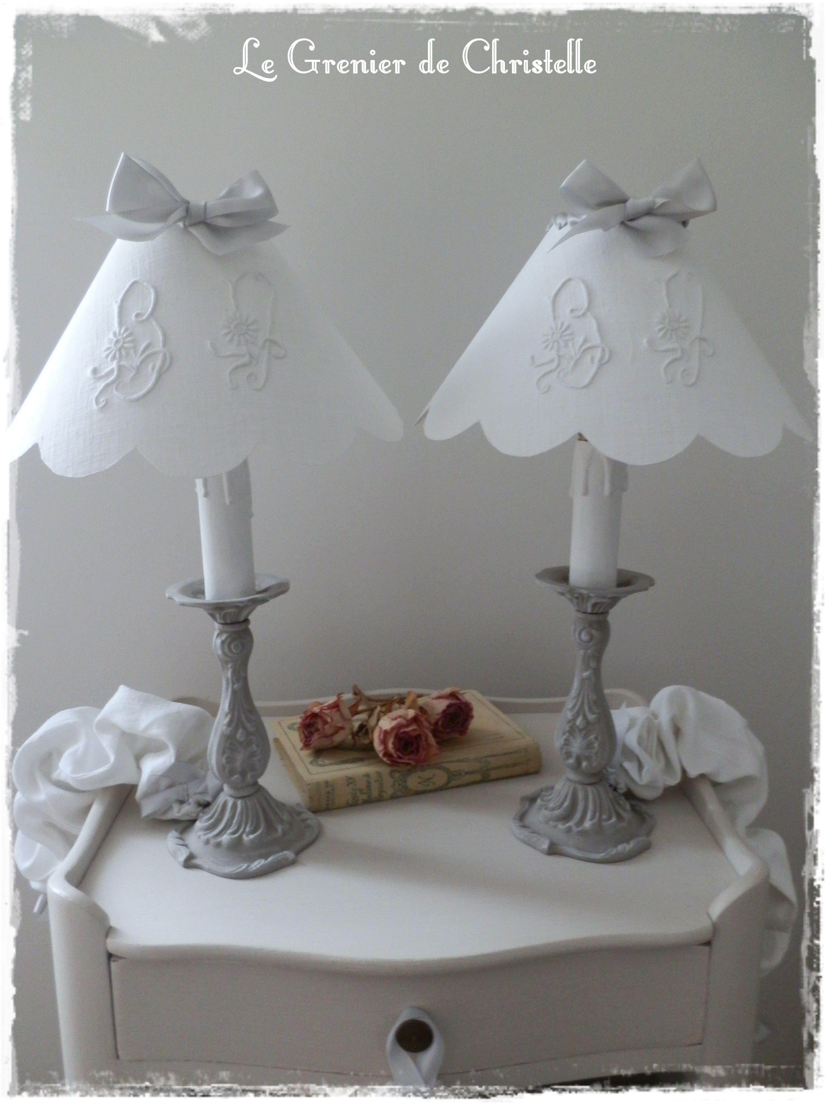 paire de lampes patinée : le grenier de Christelle http://legrenierdechris.canalblog.com
