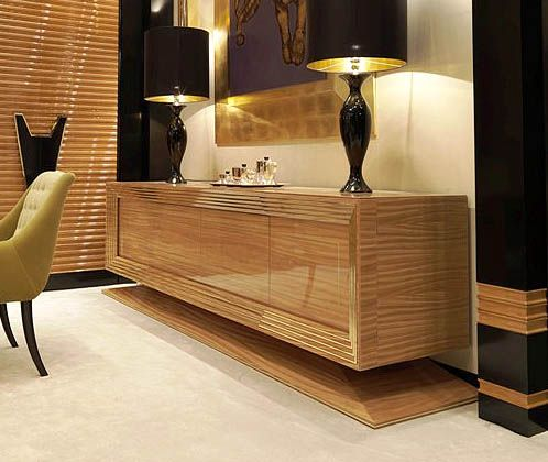 luxury wooden furniture storage. CONTEMPORARY DESIGNER CREDENZA In Citronnier Wood. | Taylor Llorente Furniture Luxury Wooden Storage U
