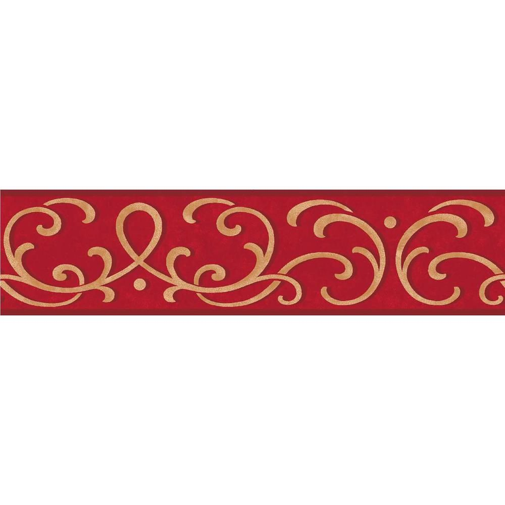 Brewster Carmen Scroll Peel And Stick Wallpaper Border Tfdb07503s The Home Depot Peel And Stick Wallpaper Traditional Wallpaper Wallpaper Border