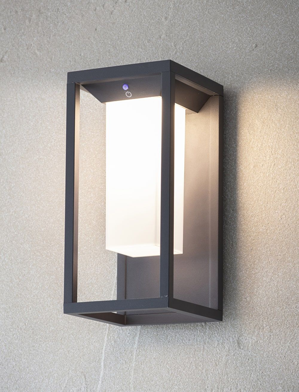 An Outdoor Solar Powered Wall Light With A Matt Grey Frame Click To Buy Now Garden Trading Wall Lights Modern Outdoor Wall Lighting Solar Wall Lights