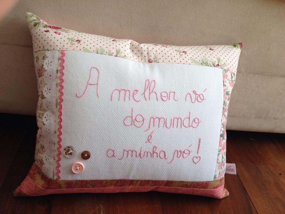 Almofada patchwork vovó!!!