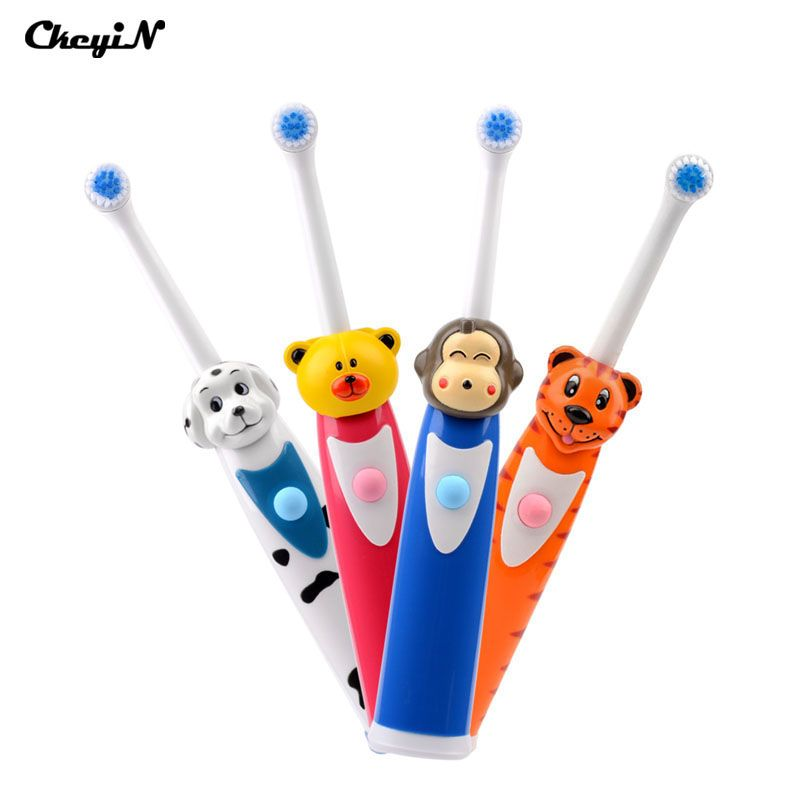 CkeyiN 뜨거운 판매 어린이 만화 패턴 전기 칫솔 구강 위생 전기 마사지 치아 케어 아이 칫솔 클렌저