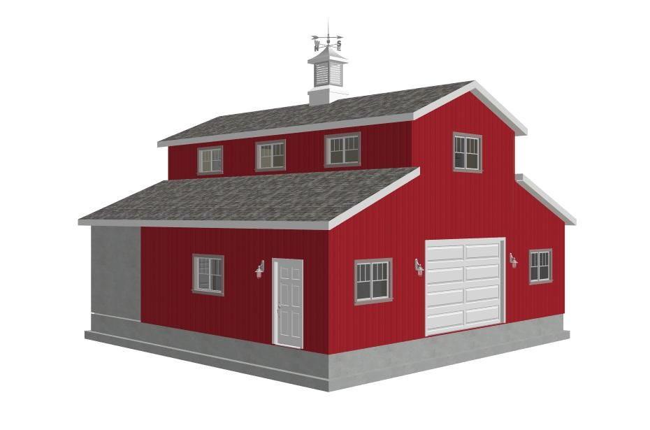 36x36 10 Sides Garage Plan2