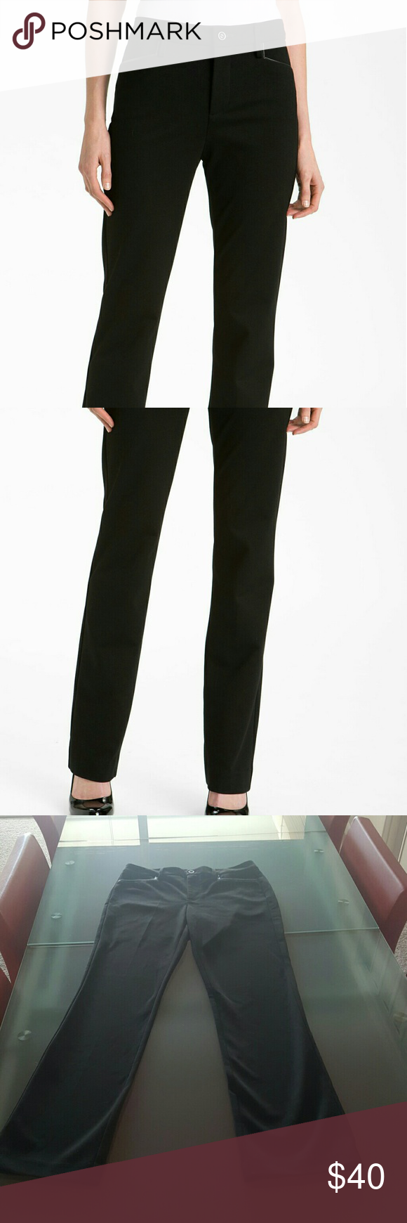 NYDJ- Blk women s trousers with faux leather trim. Nordstrom WebsiteWomen s  ... 3ef05f1a4c