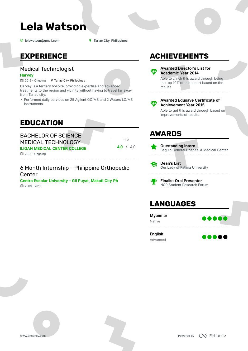 Download medical technologist resume example for 2020