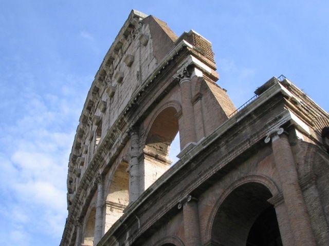 the Colosseo, Roma, Italia - January 2005