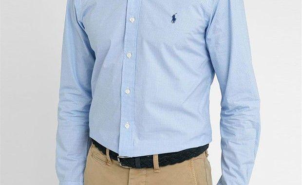 Chemise en popeline vichy bleu ciel Polo Ralph Lauren #chemise #ralphlauren  #chic