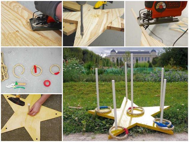 Fabriquer un jeu de lancer du0027anneaux en bois - Blog DIY Deco - ClemATC - Fabriquer Une Chambre Noire En Carton