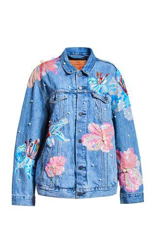 Fertile Flower Denim Jacket X Levis by Romance Was | Moda Operandi