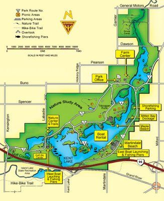 Kensington Metropark Map Kensington Metro Park   Michigan I used to rollar blade the 8 mile
