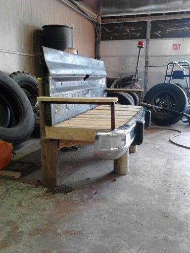 DIY Bench We Made From 70s Chevy Tailgate, Pallets, U0026 Scrap Metal.