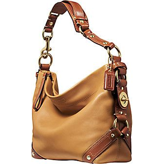 NEW BEAUTIFUL COACH RARE CAMEL COGNAC TURNLOCK LEATHER CARLY SHOULDER BAG 10615