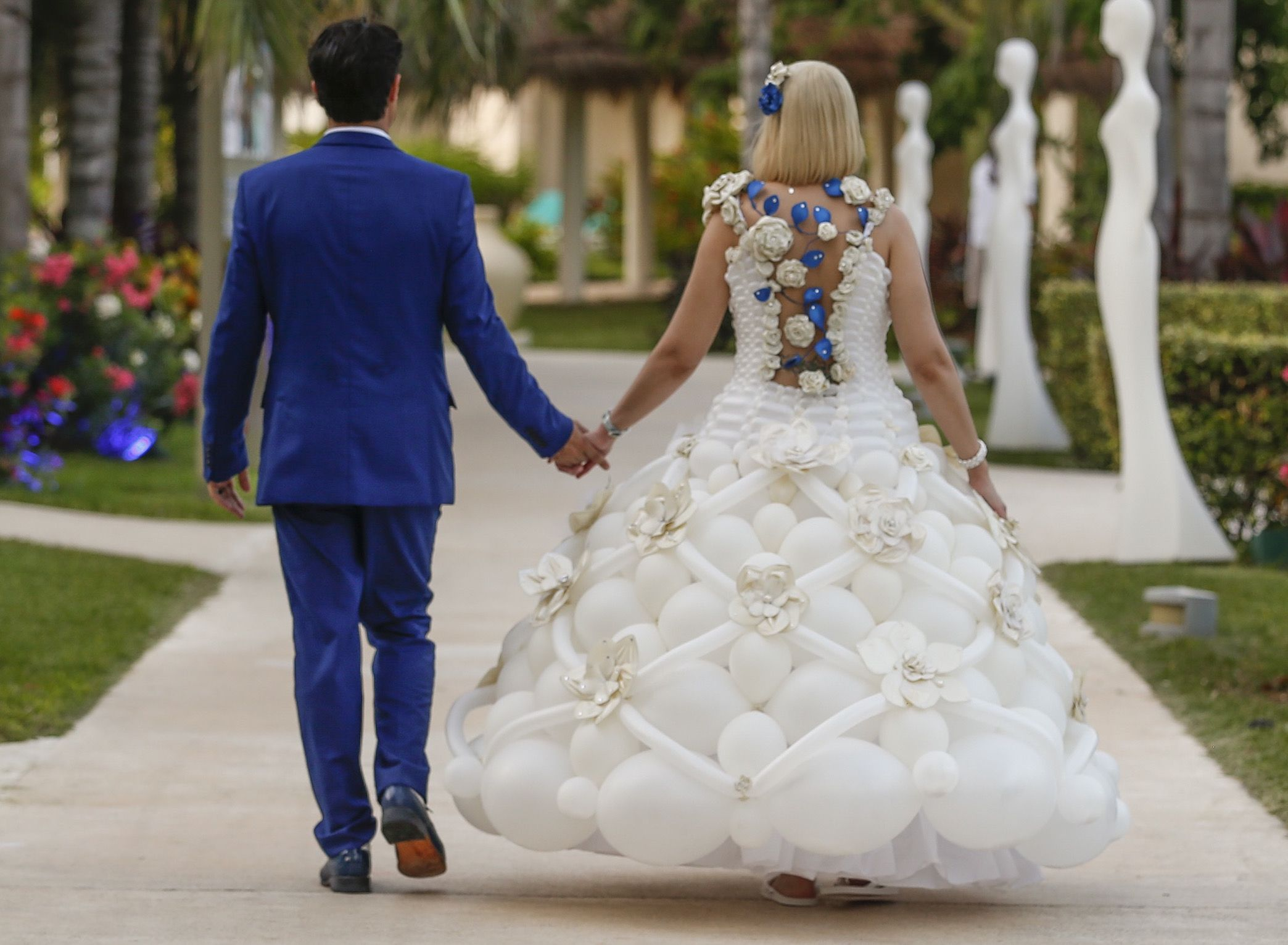 Tawney B Creates A Completely Unique Wedding Balloon Dress For A