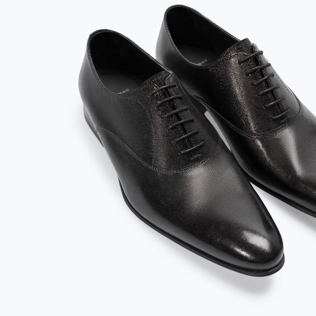 3f71ce01c973c ZARA - LEATHER LACEUP SHOES Hombres Ingleses