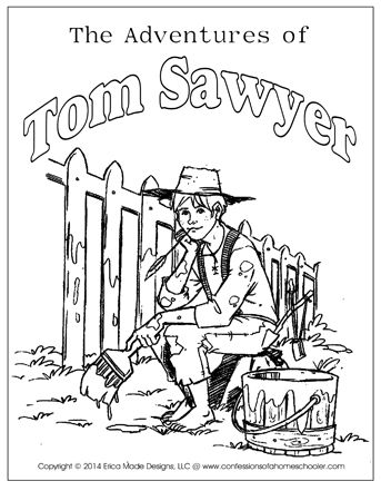 the adventures of tom sawyer unit study homeschooling reading  the adventures of tom sawyer unit study