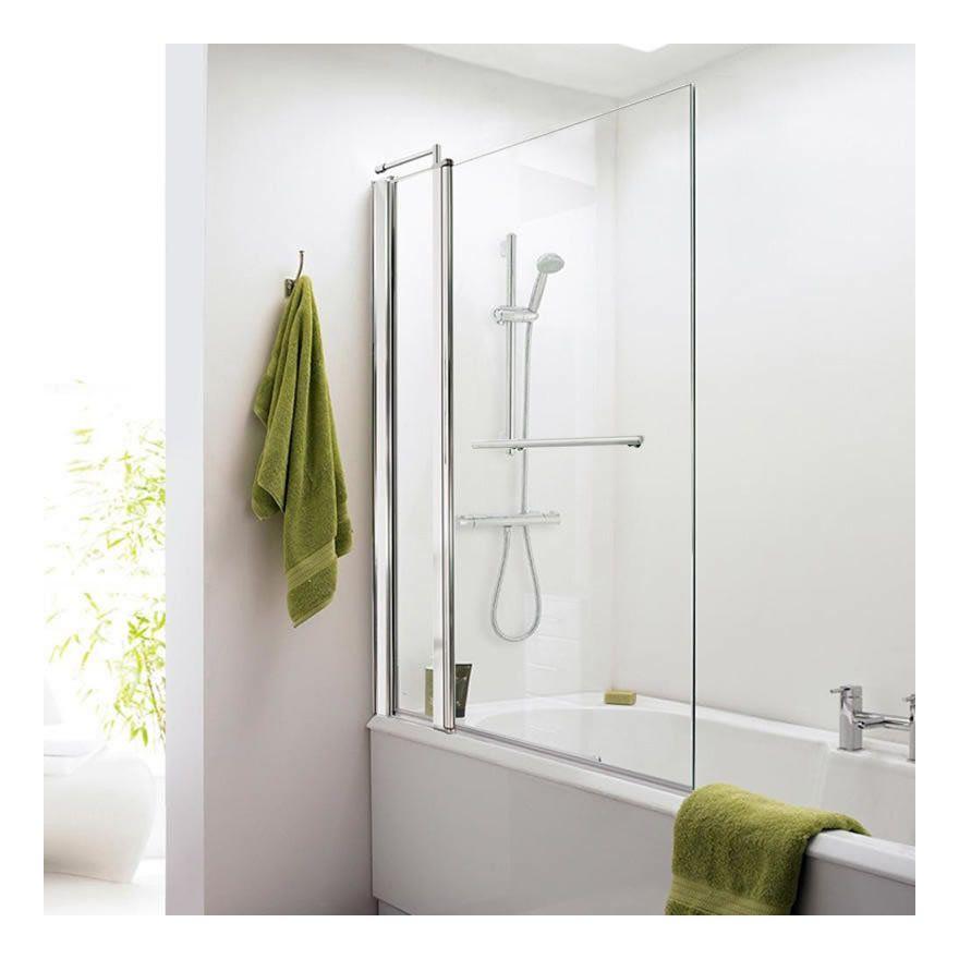 Pare baignoire \ porte-serviette 1435 x 985-1005mm - NSSQR2 - prix baignoire a porte