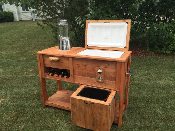 Exceptional Rustic Cooler Bar Cart By ChriswoodworkDesign On Etsy