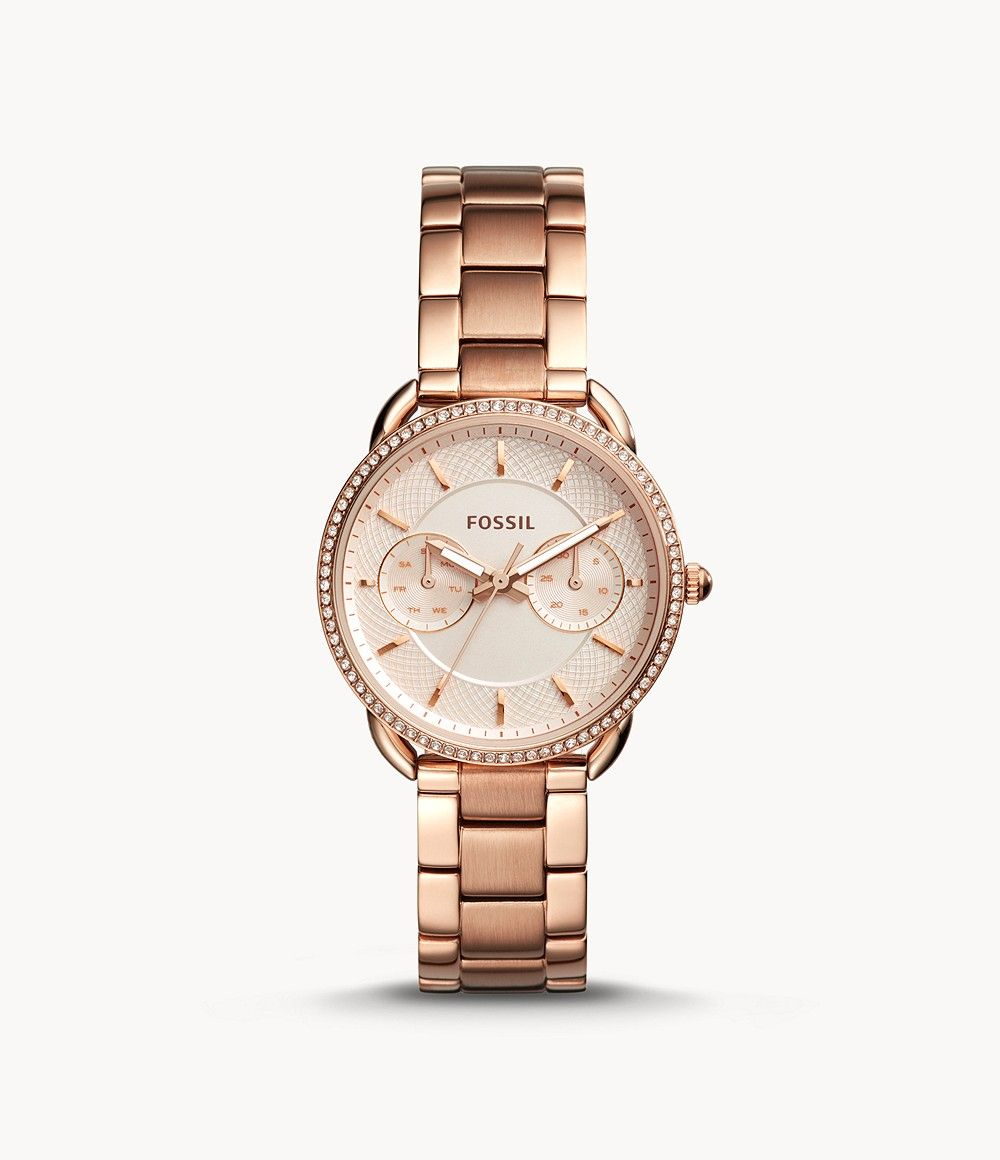 Tailor Multifunction Rose Gold Tone Stainless Steel Watch Es4264 Damenuhr Fossil Uhren Fossil