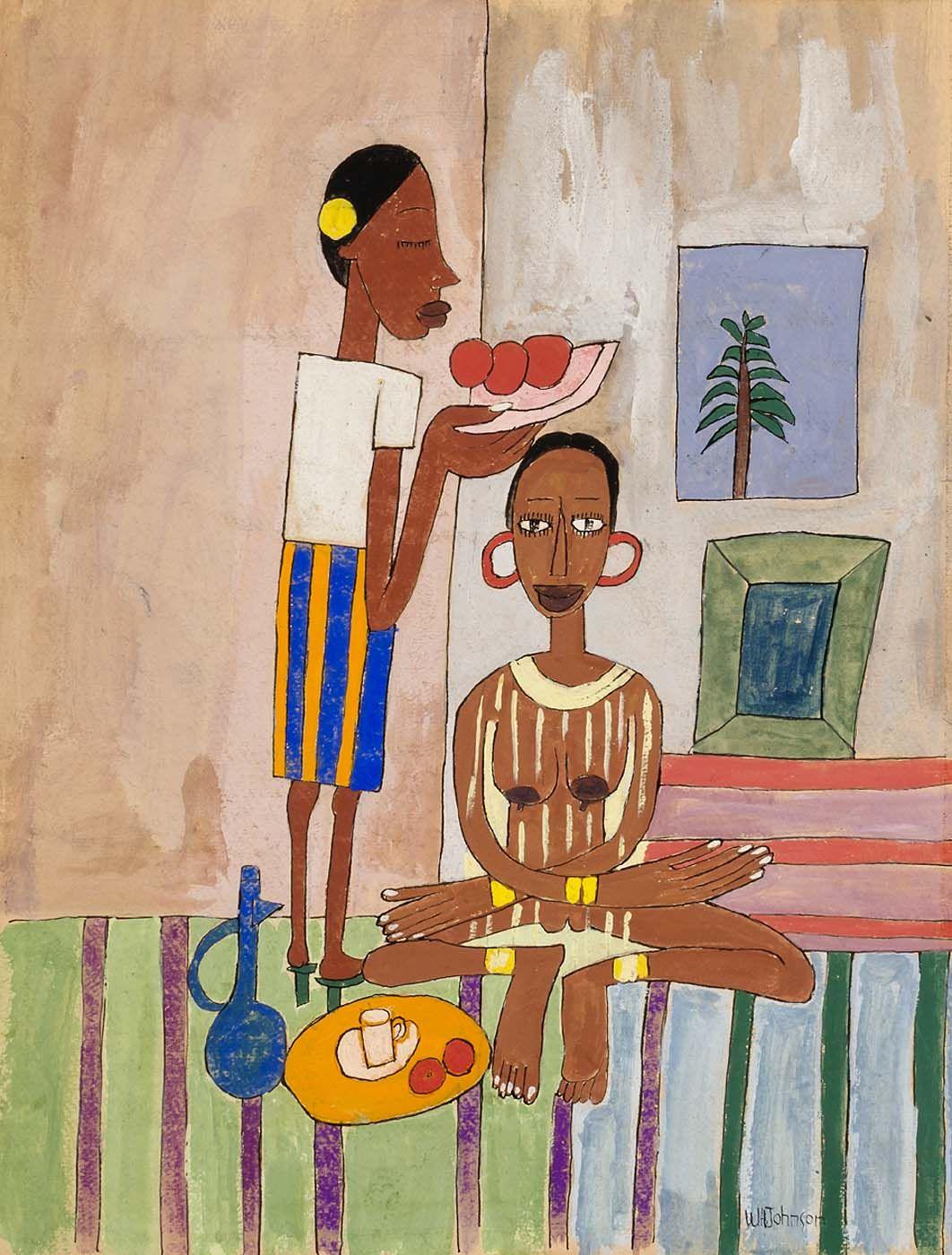 Breakfast for madam by william h johnson american art