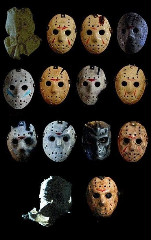 comicsodissey:  (vía Evolution of Jason Voorhees' Hockey Mask [Friday the 13th])