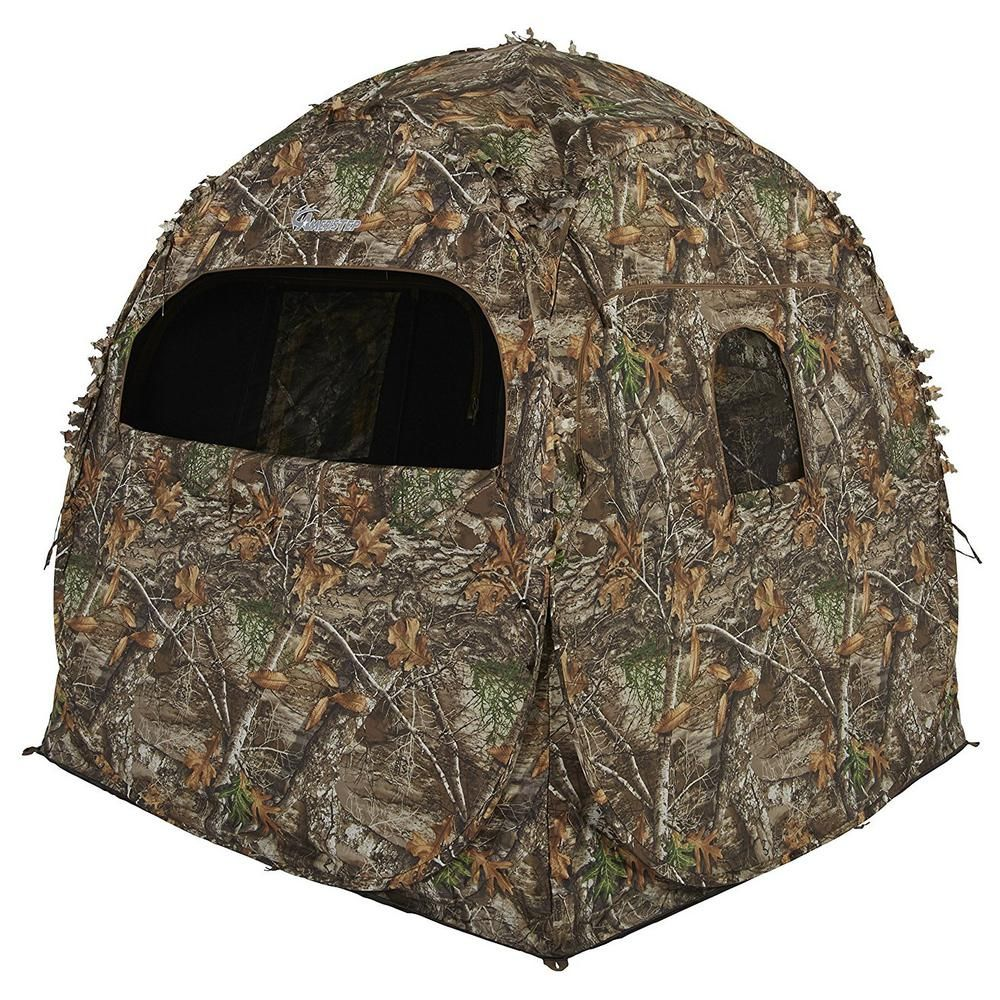 Ameristep 2 Person Shadow Guard Durashell Plus Doghouse Ground Blind In Camouflage Amebl1002 The Home Depot In 2020 Ground Blinds Hunting Ground Blinds Dog Houses