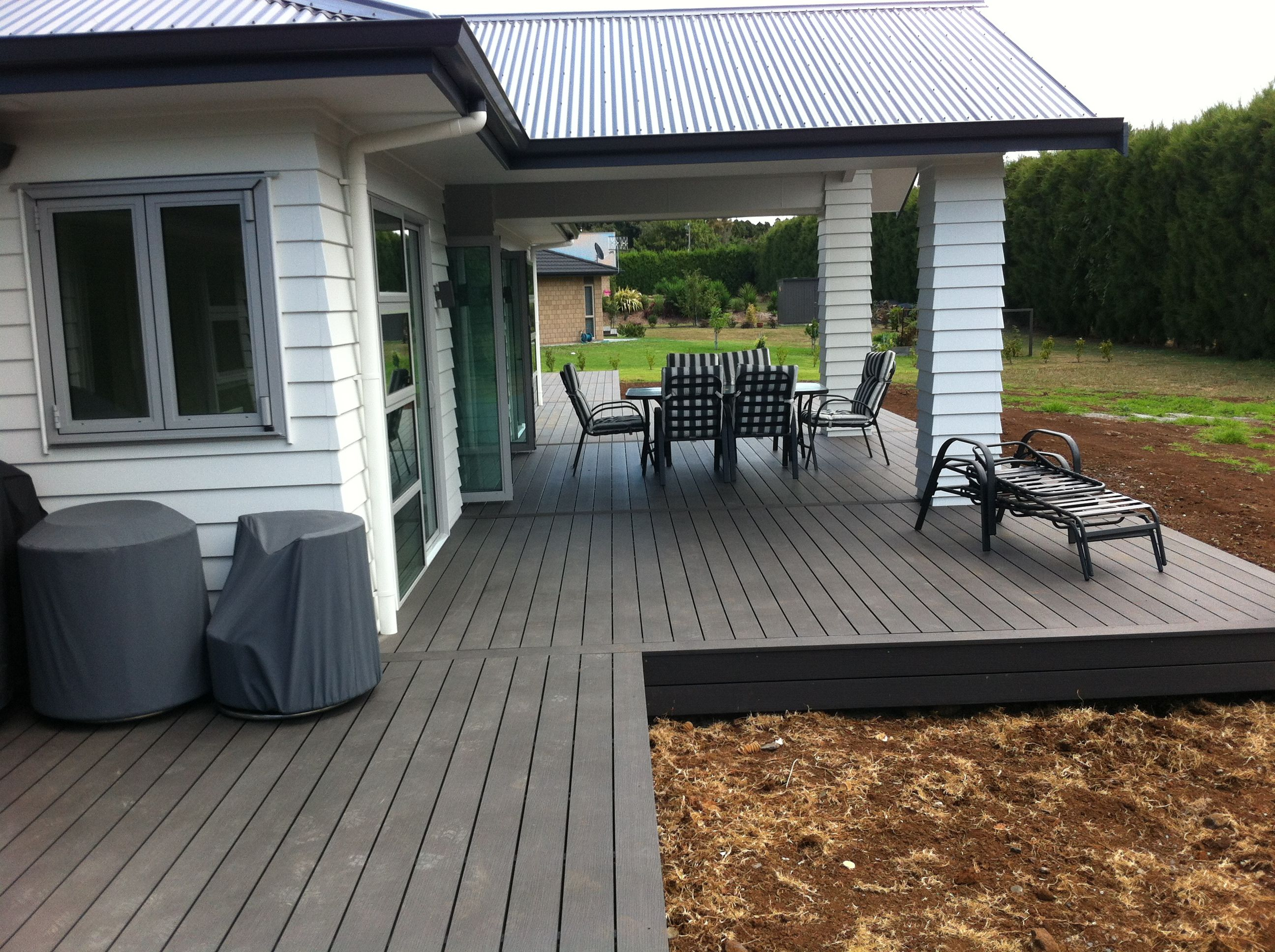 Decking Panels Plastic Extruded Deck Board Eco Friendly Decking Wood Thickness