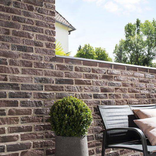leroy merlin plaquette de parement b ton brique atelier 28 euros le m2 la brique pinterest. Black Bedroom Furniture Sets. Home Design Ideas