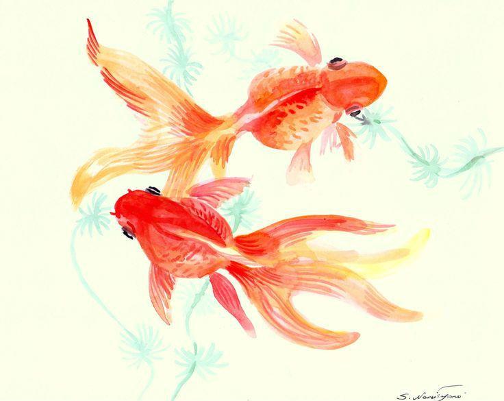 ป กพ นโดย Sara Leticia ใน Tattoo Ideas ห นระบายส ปลาทอง ศ ลปะส น ำ