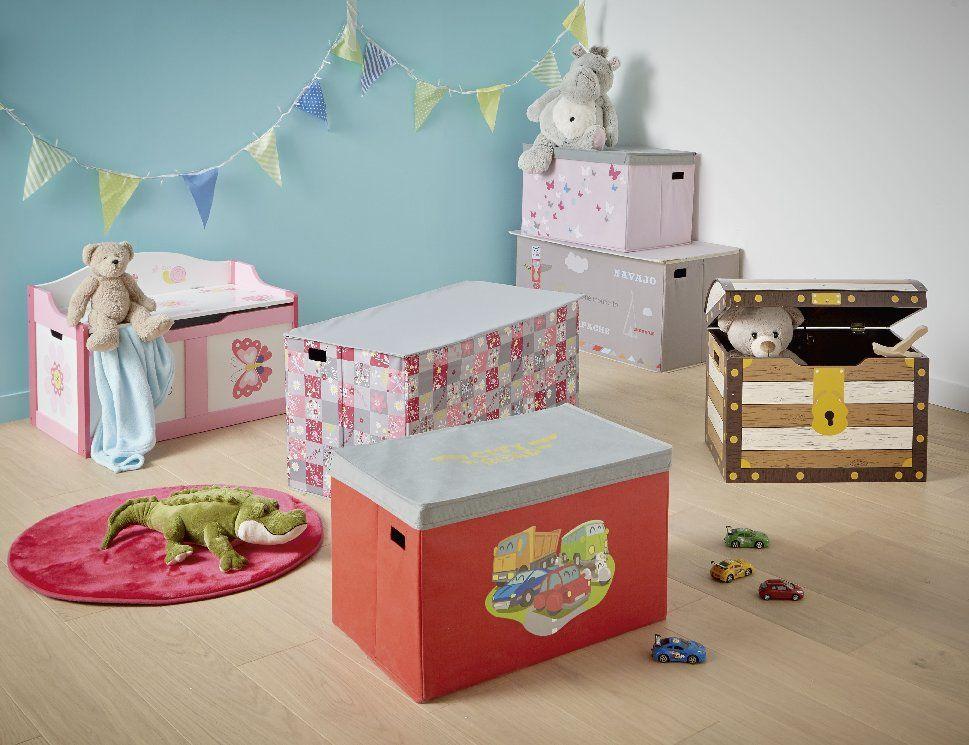 Leila Coffre A Jouets Pliable Revetement Textile Pour Enfant Alinea Boite De Rangement Boites De Rangement Decoratives Coffre A Jouets