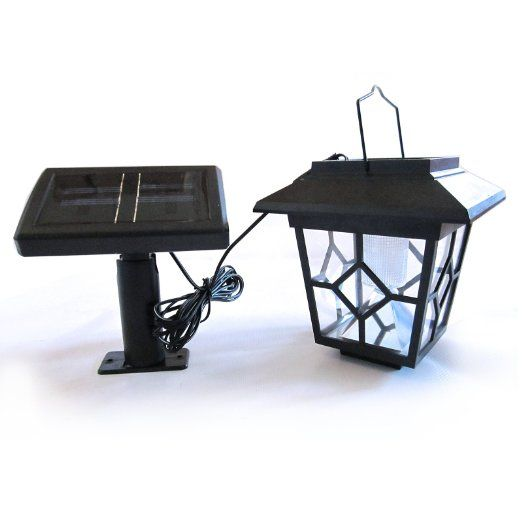 solar laterne mit led lampe und externem solarmodul f r garten haus garten ideas. Black Bedroom Furniture Sets. Home Design Ideas
