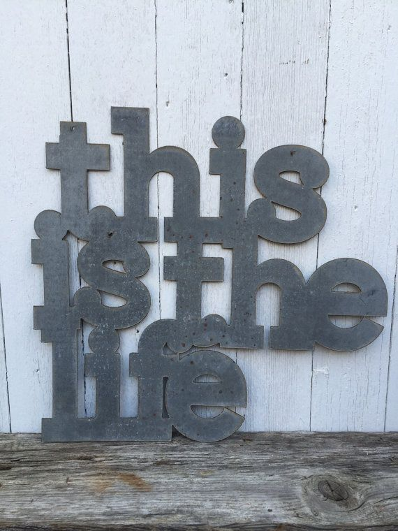 This Is The Life Sign by TheTinShedFab on Etsy