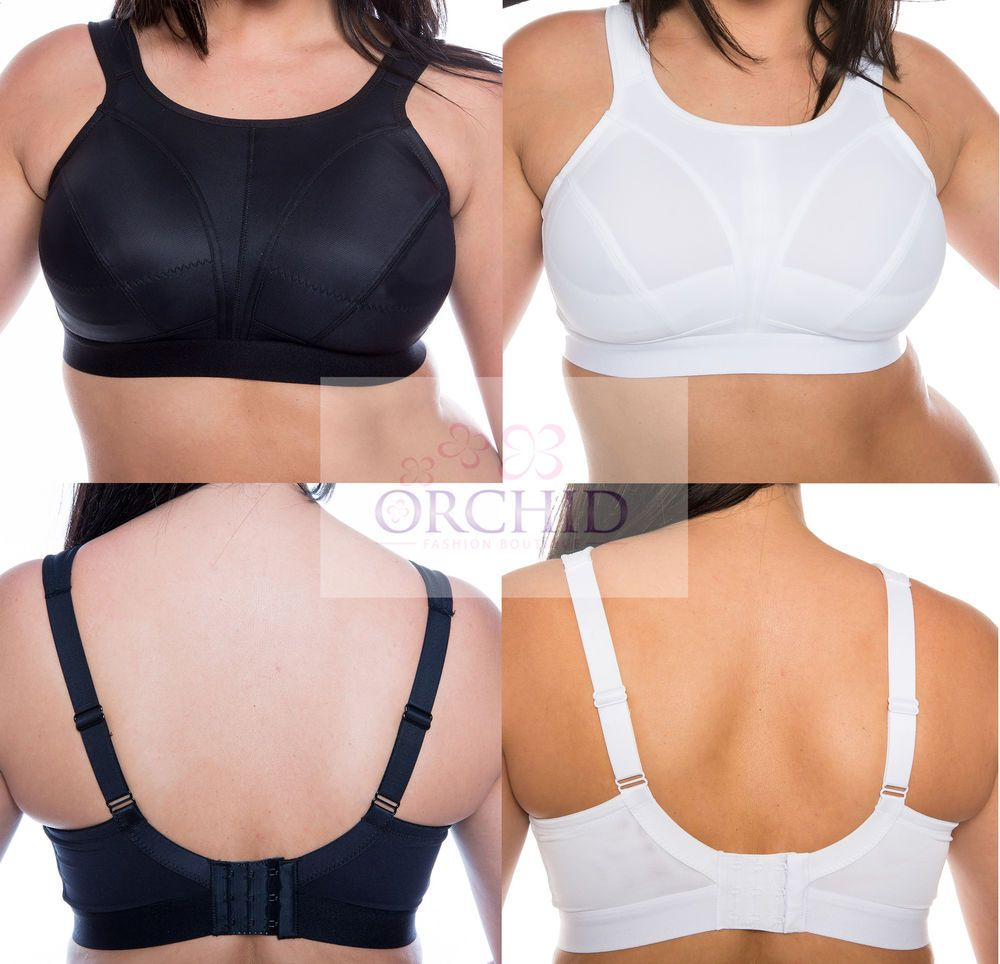 640a1e675f5 Ladies Plus Size Non Wired High Impact Sports Bra Pack Of 2 Black White New  Perfect sports bras for women with large busts Ladies plus size sports bra  high ...