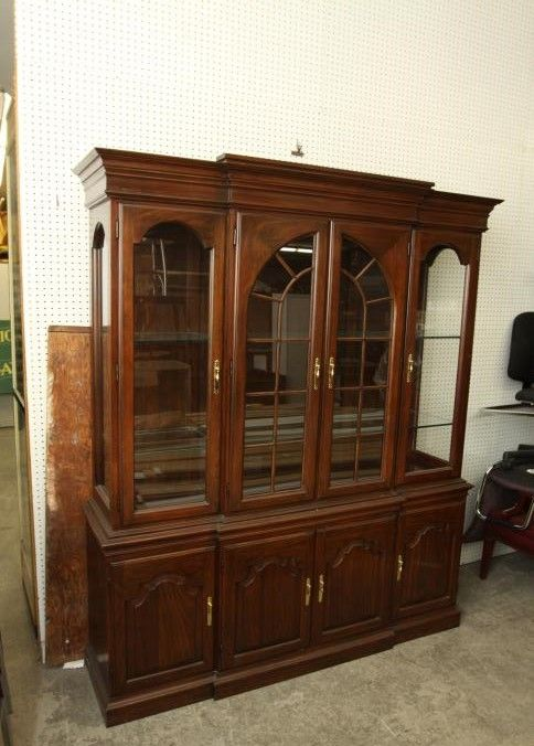 Harden four door over four door hutch with six removable interior ...