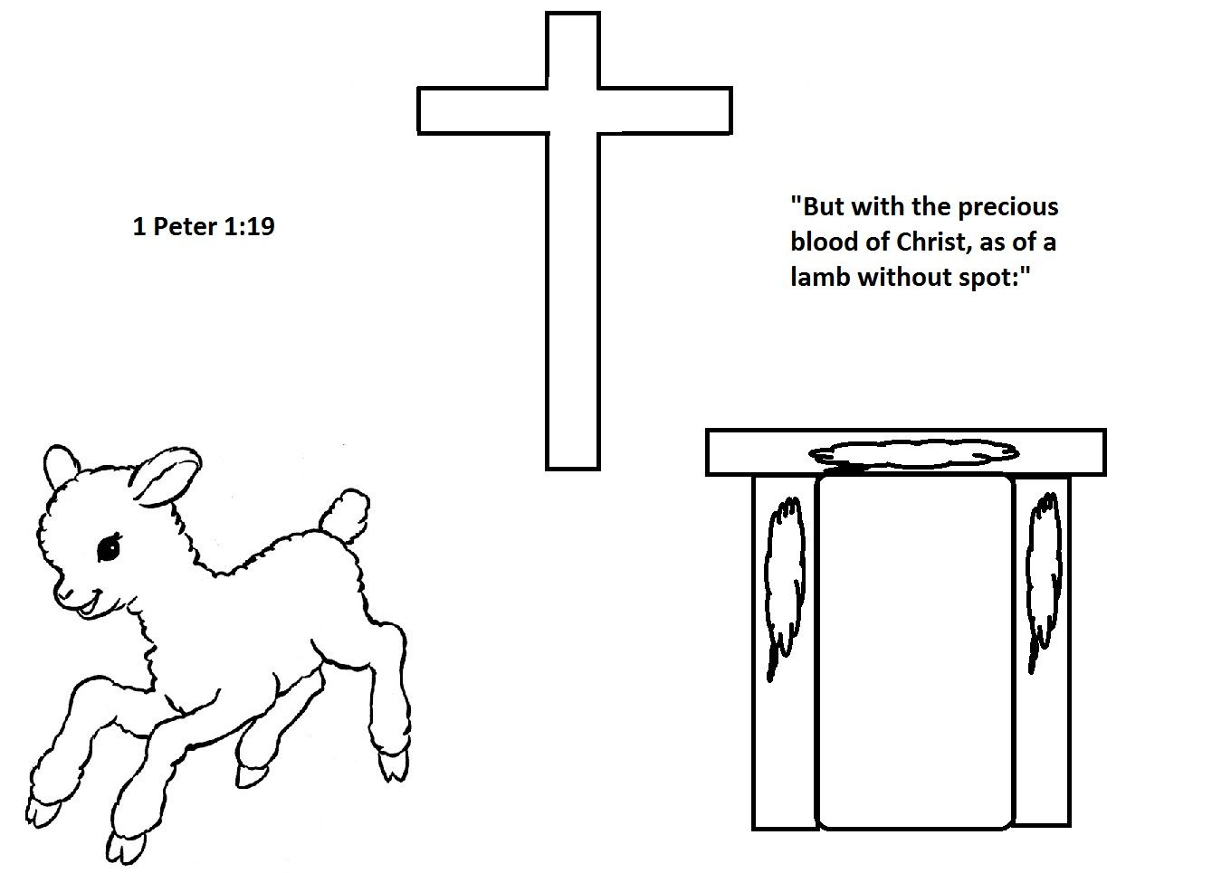 A Coloring Page I Created To Reinforce The Passover Account Paralleling The Lamb To Jesus Sacrifice For U Bible For Kids Bible Coloring Pages Passover Crafts [ 965 x 1360 Pixel ]
