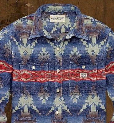 c0c6e97d9b88 Denim Supply Ralph Lauren Men Southwestern Indian Aztec Work Jacket Shirts  Large